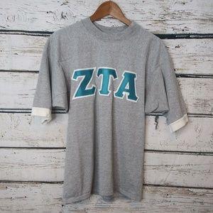 ZTA Zeta Tau Alpha Stitched Letter Jersey Size Med